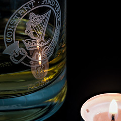 Macro Monday - Relaxation (roseysnapper) Tags: constantandtrue heliconfocus macromonday maltwhisky focusstack lightroom macro photoshop scotch scotland alcohol candle candlelight clan engraving glass reflection relaxation rose