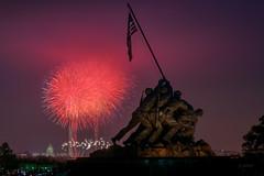 4th of July (jed52400) Tags: 4thofjuly fireworks washingtondc washingtonmonument capitolhill uscapitol iwojimamemorial usaflag arlington virginia