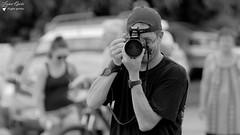 Jean Luc - Portrait (Laurent Quérité) Tags: canonef100400mmf4556lisusm canoneos7d meetingaérien airshow spotter photographe dijon france portrait man homme ba102 canonfrance noirblanc blackwhite monochrome
