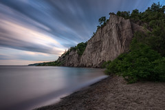 Sunset at The Bluffs - Scarborough Ontario Canada (B.E.K.) Tags: scarborough bluffs toronto ontario canada outdoor landscape longexposure clouds sky water shore coast lake sand trees rock formation