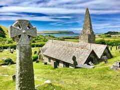 St Enodoc Church (heathernewman) Tags: green bluesky coastpath stenodocchurch archtecture building padstow rock church coastal sea england uk cornwall