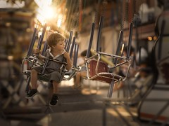 Funfair (iwona_podlasinska) Tags: fair fun child childhood light colorful sunset nostalgic iwona podlasinska