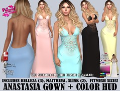 ANASTASIA GOWN PIC (brajeet.resident) Tags: secondlife pizazz pzc womens fitmesh fashion apparel belleza venus isis freya maitreya lara slink physique hourglass anastasia gown formal weddingdress bridesmaid dress