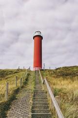 Red. (marfis75) Tags: iphone iphone6 marfis75 cc creativecommons leuchtturm strand düne dühne treppe hoch warnung rot turm wiese holland niederlande schagen noordholland