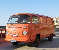 Volkswagen T2b (Edge of Europe) Tags: volkswagen t2b italy sicily cefalù promotionalvehicle aperol spritz orange