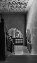 Black and White Bahrain Grand Mosque (Clicks by Mike) Tags: manama bahrain shapes building arch stairs nikon d7100 travel photography blackandwhite