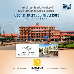Cochin International Airport is the first airport in India developed under a public-private partnership (PPP) model and was funded by nearly 10,000 non-resident Indians from 30 countries. #Trivia  #Kerala #Kochi #India #Architecture #Home #Construction #C (nucleusproperties) Tags: beautiful life kochi elegant style kerala realestate lifestyle india airport luxury trivia comfort nature architecture interior cochin gorgeous design elegance environment beauty building exquisite view city construction atmosphere home
