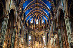 Blue Sky in the Cathedral (Aymeric Gouin) Tags: canada ottawa ontario church cathedral ceiling plafond architecture blue bleu travel voyage église lumière light olympus omd em10 aymgo aymericgouin