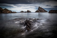 Godzilla... (Augmented Reality Images (Getty Contributor)) Tags: canon clouds coastline colours landscape leefilters littlestopper longexposure lowtide morayfirth portknockie rocks scotland water waves
