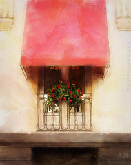 Simply Red (sbox) Tags: seville spain window red flowers textures declanod sbox painterly painting digitalpainting
