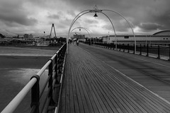 A cloudy Monday on Southport Pier (paul_taberner_photography) Tags: southportpier blackwhite