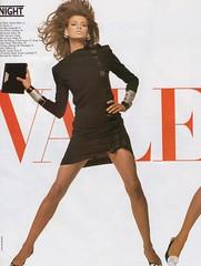 Valentino 1987a (barbiescanner) Tags: vintage retro fashion vintagefashion vintageads 80s 1980s 80sfashion 1980sfashion lindaevangelista stevenmeisel valentino