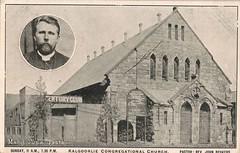 Congregational Church, Kalgoorlie, W.A. - 1910 (Aussie~mobs) Tags: westernaustralia vintage 1910 kalgoorlie congregationalchurch marieodea johnbeukers reverend pastor church centuryclub revjohnbeukers