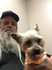 Me and Baxter (ravensbo) Tags: yorkie