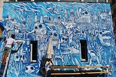 Bault_2458 rue du Dr Magnan Paris 13 (meuh1246) Tags: streetart paris paris13 bault ruedudrmagnan animaux crocodile poisson renard insecte