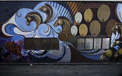 Thoroughbreds and casks (aerojad) Tags: eos canon 80d dslr 2017 city urban art artinpublicplaces streetart publicart mural murals graffiti vacation travel wanderlust graffitialley toronto canada vibrant colorful