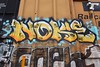 NOKE (TheGraffitiHunters) Tags: graffiti graff spray paint street art colorful freight train tracks benching benched noke floater boxcar ribbet