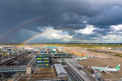 Double Rainbow @ ORY (vy.photographe) Tags: aéro aéronautique aéroport airport plane aircraft avion rainbow arcenciel couleurs colours contrast clouds squall rain pluie grain nuages orly ory lfpo ciel sky jour