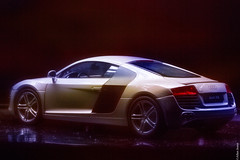 Audi R8 made to look real (Allan Jones Photographer) Tags: audi audirs r8 toy toycar modelcar scale124 desktopphotography artimitatinglife stilllife creativelighting creativephotography macro allanjonesphotographer canon5d3 canonef100mmf28lmacroisusm photoshop shadow lights