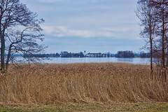 View of Fraueninsel from Herreninsel in lake Chiemsee in Bavaria, Germany (UweBKK (α 77 on )) Tags: view fraueninsel herreninsel lake chiemsee bavaria bayern germany deutschland water sky grey clouds sony alpha 77 slt dslr