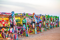 Stubborn In-Betweener (Thomas Hawk) Tags: amarillo america antfarm cadillac cadillacranch chiplord dougmichels hudsonmarquez route66 stanleymarsh stanleymarsh3 texas usa unitedstates unitedstatesofamerica auto automobile car graffiti us fav10 fav25 fav50