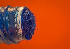 Macro Mondays - Drips, Drops and Splashes Theme (sephrocker) Tags: macro drips drops macromondays canon100mm28 blue orange krink paint graffiti