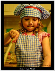 The Fudge Maker (Oul Gundog) Tags: fudge maker cook chef kitchen stir pantry confectionary northern ireland ulster newtownards portrait children granddaughter