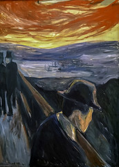 'Sick Mood at Sunset: Despair' by Edvard Munch (Greatest Paka Photography) Tags: art artist edvardmunch sfmoma museumofmodernart sanfrancisco gallery exhibit museum sickmoodatsunset despair preexpressionist painting sky color