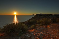 sunset at poseidon temple (alexandros9) Tags: flickr sunset poseidon ancient temple cape sounion attica greece