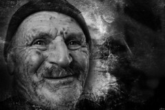eyes (yasar metin) Tags: smile portrait portre huzur hayat siyah beyaz blackandwhite black white people monochrome depth field surreal photo border