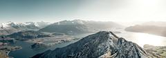 Roys Peak Track - New Zealand (Max Pa.) Tags: new zealand newzealand landscape canon 5d 2470mm neuseeland lake wanaka roys peak track hike walking see water mountains island mountain berg berge snow winter view nature natur light sun sonne