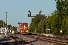 How the mighty have fallen! (Jon R. Roma) Tags: railroad train engine bnsf atchisontopekasantafe
