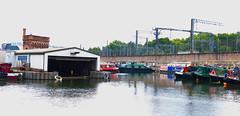 St Pancras Basin - I (Derek John Lee) Tags: london regentscanal canal railway stpancras