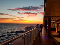 Sunset Aboard Ship (CVA One Photographer and Videographer) Tags: sunset ocean cruiseship norwegianbreakaway atlantic