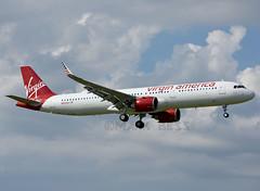 N922VA1 (MAB757200) Tags: virginamerica a321253n n922va aircraft airplane airlines airbus france jetliner jfk kjfk runway13l neo landing