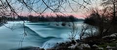 -The River Stream- (Roberto Rubiliani) Tags: rubiliani robertorubiliani river fiume water acqua nature natura tramonto sunset canon eos1100d serenità serenity italia italy lombardia panorama