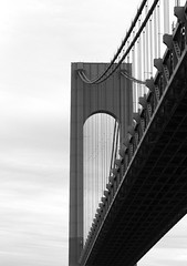 The Narrows (John Bense) Tags: bridge suspension narrows staten island verrazzano verrazano blackandwhite monochrome