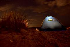 tent at the ocean