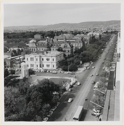 North Terrace looking east. War Memorial and Institute on left