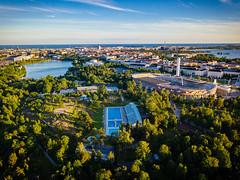 Töölö (miemo) Tags: dji mavic mavicpro stadion uimastadion aerial city cityscape drone dronephotography europe evening finland helsinki park sea summer swimmingpool töölö töölönlahti helsingfors uusimaa fi