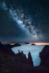So far, so near... (darklogan1) Tags: volcanic crater caldera taburiente milkyway sky stars galaxy lapalma canaryislands atlantic clouds pristine nightphotography zeiss sony a7r2 longexposure logan darklogan1