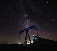 milky way oil well (NEO-Images (425,000 views!!)) Tags: milky way milkyway stars night dark sky oil well landscape