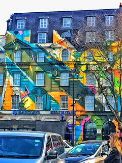 London England ~ Barclay Bank Coloured Painted Branch  ~ Attraction Site