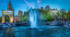 Evening fun in Washington Square Park (Explored) (Geoff Eccles) Tags: manhattan nyc greenwichvillage newyorkcity newyork cityscape city washingtonpark architecture dusk