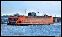Staten Island Ferry - MV Andrew J. Barberi - New York Harbor, NY. (SpottingWithTom) Tags: mv andrew j barberi staten island ferry nyc dot new york city harbor manhattan water ship governors battery park