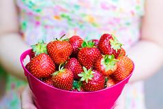juicy-strawberries (ChicqueeCat) Tags: fruits strawberries red nikon d3300