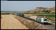 TECO en Seseña (javier-lopez) Tags: ffcc railway train tren trenes adif renfe mercancías teco contenedor contenedores intermodal 253 traxx sgs sgss mmc sevillalanegrilla madridabroñigal seseña 10072013