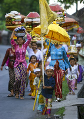 Children carrying parasols and flags during a traditional hindu temple festival procession, Bali island, Canggu, Indonesia (Eric Lafforgue) Tags: asia asian bali bali152 balinese baskets carry carrying celebration ceremony children clothing colorful culture day event festival festivity flags flowers fruits gifts groupofpeople hindu hinduism indonesia indonesian offerings outdoors parade parasols pilgrimage procession religion religious ritualofferings sacred spiritual spirituality tradition traditional umbrellas vertical walking women canggu baliisland