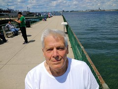 Me today (brooksbos) Tags: geotagged poprtrait selfie selfportrait boston southboston castleisland fortindependence water harbor narbour pier people public outdoors moto motog android phone