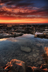 Rockpool (Mark Leader) Tags: rockpool bexhill sea shore coast sunrise dawn morning bluehour pebbles seascape landscape dreamscape tranquility tranquil serenity serene
